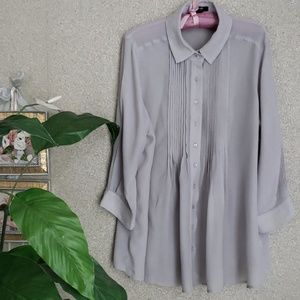 ALFANI🌺GRAY SOFT BLOUSE